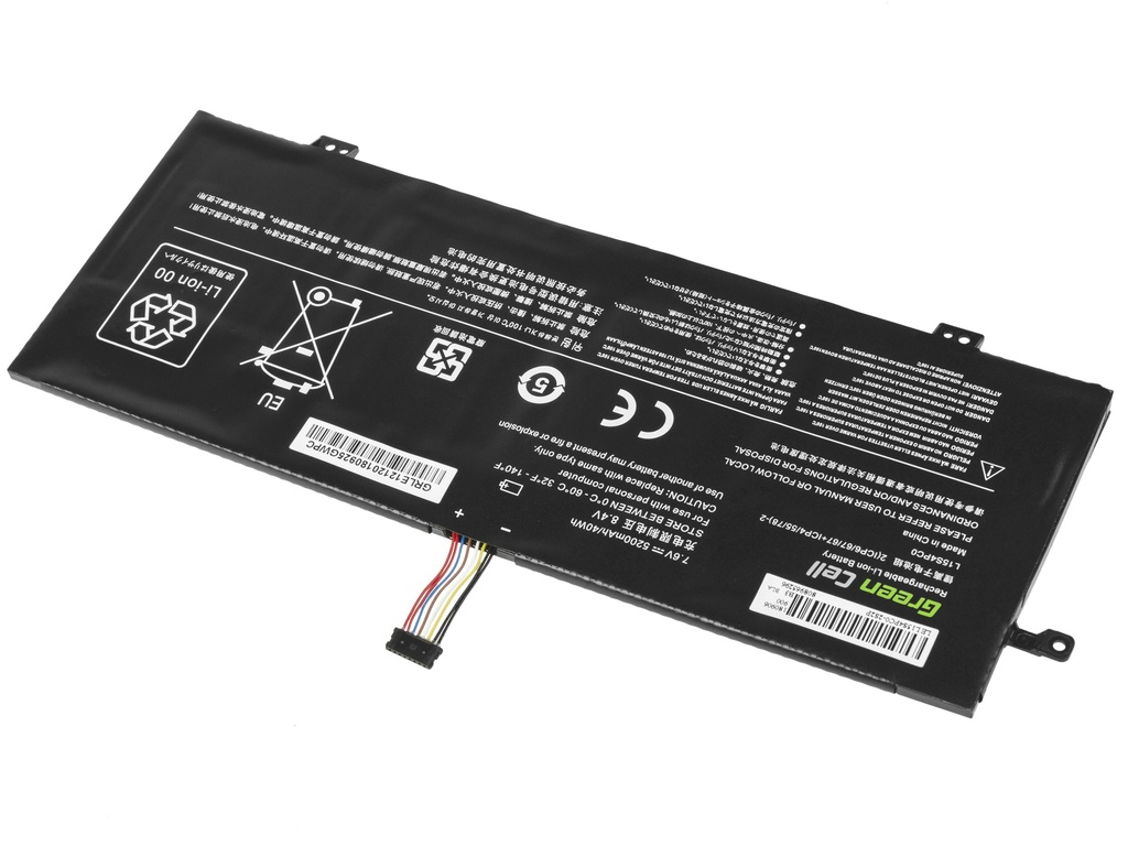 Green Cell Battery for Lenovo V730 V730-13 Ideapad 710s Plus 710s-13 / 7,6V 3200mAh
