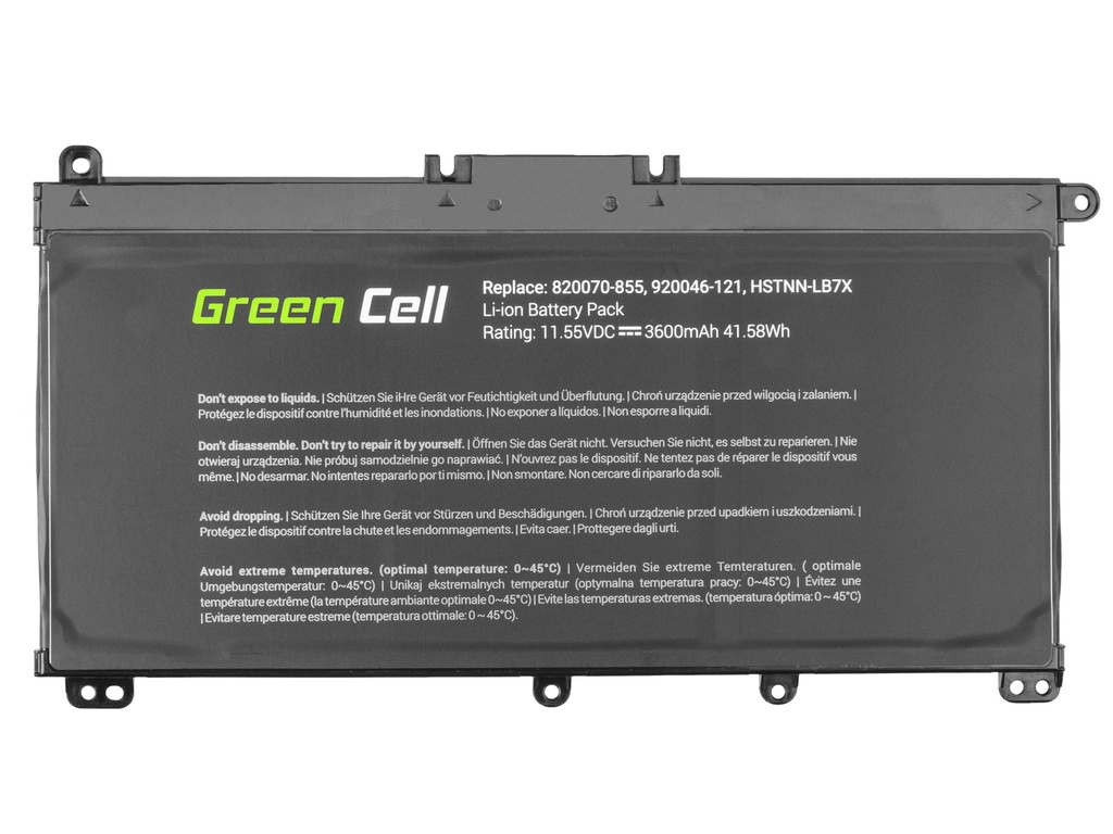 Green Cell Battery for HP Pavilion 14 15 15T 15Z 17 17Z / 11,55V 3400mAh