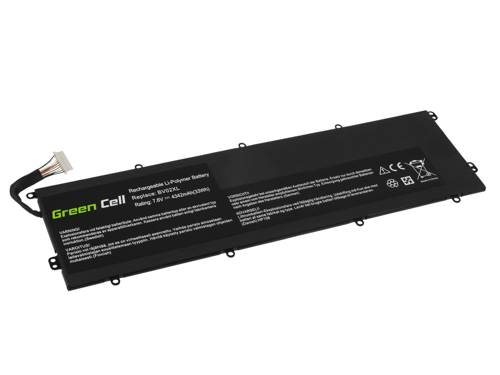 Green Cell Battery BV02XL for HP Envy x2 13-J 13-J010NW 13-J011NW