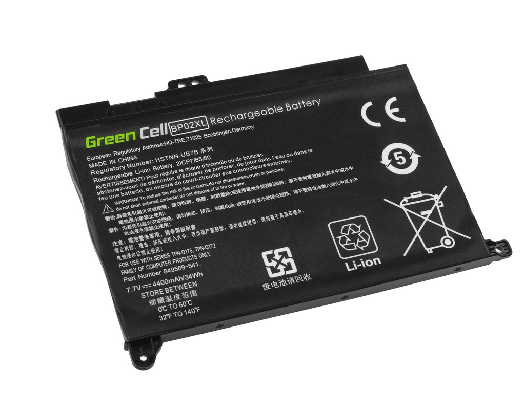 Laptop Battery Green Cell BP02XL for HP Pavilion 15-AU 15-AU051NW 15-AU071NW 15-AU102NW 15-AU107NW 15-AW 15-AW010NW