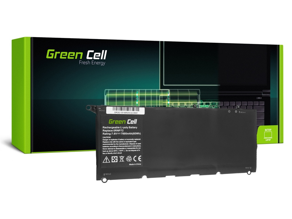 Батерија Green Cell PW23Y за Dell XPS 13 9360