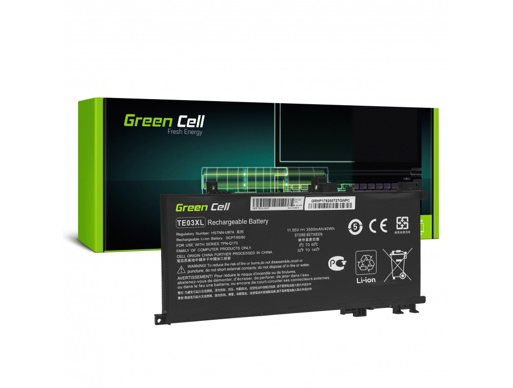 Батерија Green Cell TE03XL за HP Omen 15-AX052NW 15-AX055NW 15-AX075NW 15-AX099NW, HP Pavilion 15-BC402NW 15-BC408NW 15-BC411NW